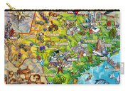 Texas Illustrated Map Carry-all Pouch