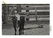 Texas Longhorn Black And White Carry-all Pouch