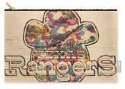 Texas Rangers Vintage Art Carry-all Pouch