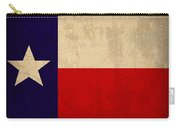 Texas State Flag Lone Star State Art On Worn Canvas Carry-all Pouch
