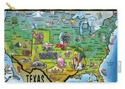 Texas Usa Carry-all Pouch
