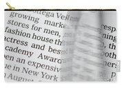 Text And Eyeglasses Carry-all Pouch