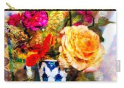 Textured Bouquet Carry-all Pouch
