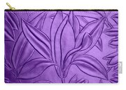 Textured Flower Carry-all Pouch