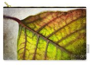 Textured Leaf Abstract Carry-all Pouch