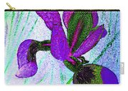 Textured Wild Purple Iris Carry-all Pouch