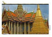 Thai-khmer Pagoda And Golden Chedis At Grand Palace Of Thailand  Carry-all Pouch