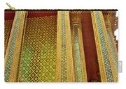 Thai-kmer Pagoda Columns At Grand Palace Of Thailand In Bangkok Carry-all Pouch