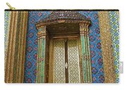 Thai-kmer Pagoda Window At Grand Palace Of Thailand In Bangkok Carry-all Pouch