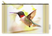 Thank You Card - Bird - Hummingbird Carry-all Pouch
