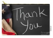 Thank You Sign On Chalkboard Carry-all Pouch