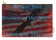 Thank You Veterans Carry-all Pouch
