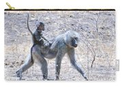 Thanks For The Ride Olive Baboon Carry-all Pouch