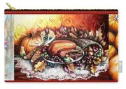 Thanksgiving Autumnal Collage Carry-all Pouch