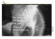Thanksgiving Kitty Bw Carry-all Pouch