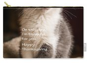Thanksgiving Kitty Carry-all Pouch