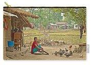Tharu Farming Village Landscape-nepal Carry-all Pouch