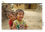 Tharu Village Children Love To Greet Us-nepal- Carry-all Pouch