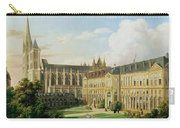 The Abbey Church Of Saint-denis And The School Of The Legion Of Honour In 1840 Oil On Canvas Carry-all Pouch