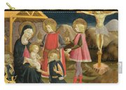 The Adoration Of The Kings And Christ On The Cross Carry-all Pouch