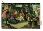 The Adoration Of The Shepherds, 1540s Carry-all Pouch