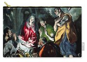 The Adoration Of The Shepherds From The Santo Domingo El Antiguo Altarpiece Carry-all Pouch