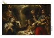 The Adoration Of The Shepherds Carry-all Pouch by Jan Cossiers
