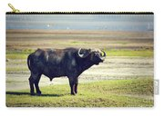 The African Buffalo. Ngorongoro In Tanzania. Carry-all Pouch