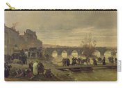 The Ambulance De La Presse At Joinville During The Siege Of Paris Oil On Canvas Carry-all Pouch