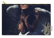The Angel Prayed Carry-all Pouch by Laurie Search