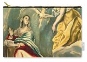The Annunciation, C.1595-1600 Oil On Canvas Carry-all Pouch