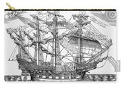 The Ark Raleigh The Flagship Of The English Fleet From Leisure Hour Carry-all Pouch