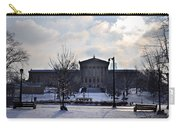 The Art Museum In The Snow Carry-all Pouch by Bill Cannon