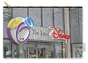 The Art Of Disney Signage Selective Coloring Digital Art Carry-all Pouch