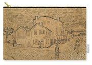 The Artists House In Arles Carry-all Pouch by Vincent Van Gogh