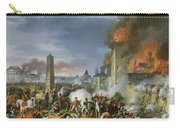 The Attack And Taking Of Ratisbon, 23rd April 1809, 1810 Oil On Canvas Carry-all Pouch