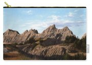 The Badlands In South Dakota Oil Painting Carry-all Pouch