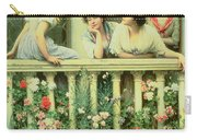 The Balcony Carry-all Pouch by Eugen von Blaas