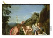 The Baptism Of Christ - Francesco Albani 1660 Carry-all Pouch