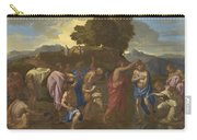 The Baptism Of Christ Carry-all Pouch by Nicolas Poussin