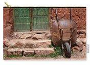 Rusty Wheelbarrow And Green Door Carry-all Pouch