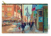 The Bay Department Store Downtown Montreal University And St Catherine Winter City Scene C Spandau  Carry-all Pouch