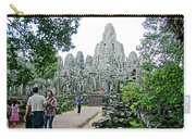 The Bayon In Angkor Thom In Angkor Wat Archeological Park-cambodia Carry-all Pouch