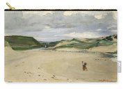 The Beach At Ambleteuse, 1869 Oil On Canvas Carry-all Pouch