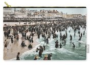 The Beach At Atlantic City 1902 Carry-all Pouch