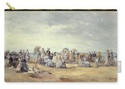 The Beach At Trouville, 1873 Carry-all Pouch
