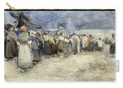 The Beach Berck Sur Mer Carry-all Pouch by Patty Townsend Johnson