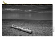 The Beach In Black And White Carry-all Pouch