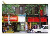 The Beadery Craft Shop  Queen Textiles Fabric Store Downtown Toronto City Scene Paintings Cspandau  Carry-all Pouch
