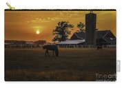 The Beauty Of A Rural Sunset Carry-all Pouch by Mary Carol Story